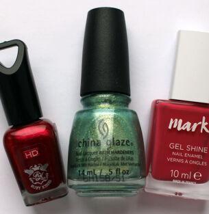 Мои лаки для ногтей: Kiss, China Glaze, mark.