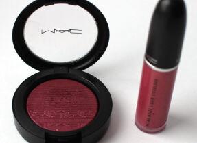 Яркий макияж с MAC Extra Dimension Blush и Retro Matte Metallic