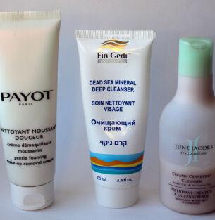 Тесты средств для умывания: Payot, Ein Gedi, June Jacobs