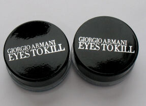 Зимний макияж с тенями Giorgio Armani Eyes to Kill Intense 33 scarab violetta и 34 blue beetle