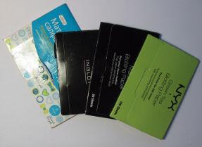 Тесты матирующих салфеток: Nyx, Inglot, Cettua