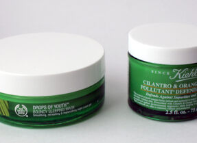 Ночные маски The Body Shop Drops of Youth и Kiehl's Cilantro & Orange Extract