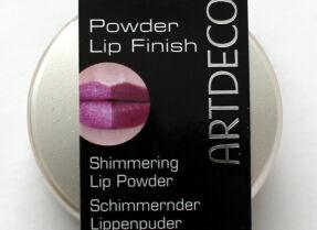 Пудра-шиммер для губ Artdeco Powder Lip Finish – отзыв и свотчи с разными помадами