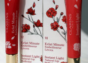 Блески Clarins Eclat Minute — новые лимитированные оттенки pink shimmer и red shimmer