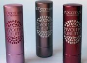 Помады-бальзамы L'Occitane Pivoine Sublime Tinted Lip Balm – три оттенка