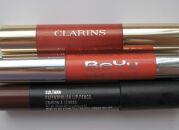 Тесты помад-карандашей: Clarins, BeYu, M.A.C.