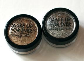 Макияж с глиттерами Make Up For Ever: серебряный и золотистый