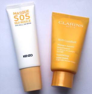 Тесты масок для лица: Kenzo Sos Roll-on Mask и Clarins SOS Comfort