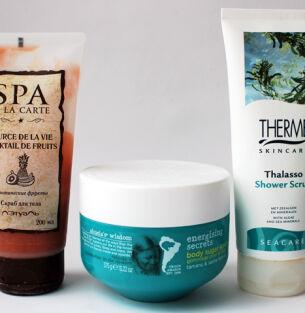 Тесты скрабов для тела: Л'Этуаль , Treets Traditions, Therme Skincare