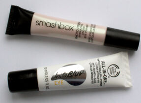 Два необычных продукта для глаз: Smashbox Photo Finish Hydrating Under Eye Primer и The Body Shop All-in-One Tinted Concealer + Primer Instablur Eye
