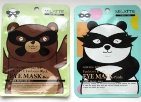 Маски для глаз Milatte Fashiony Black Eye Mask – Bear и Panda