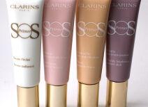 Базы под макияж Clarins SOS Primer: четыре оттенка, отзыв и свотчи