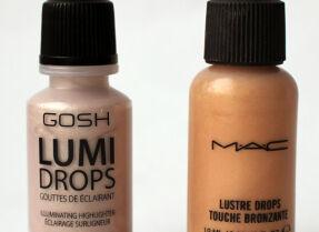 Жидкие хайлайтеры MAC и GOSH: сравнение, тесты и макияж