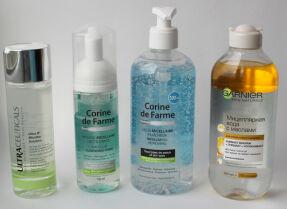 Сравнительные тесты мицеллярной воды: Ultraceuticals, Corine de Farme, Garnier