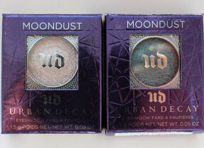 Тени для век Urban Decay Moondust, оттенки Cosmic и Solstice