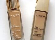 Два тональных средства Clarins: True Radiance и Haute Tenue+, сравнительный отзыв и свотчи