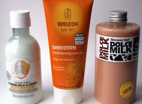 Тесты гелей для душа: The Body Shop, Weleda, Dolce Milk