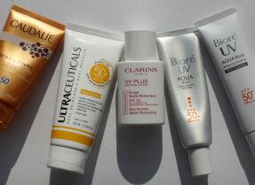 Тесты солнцезащитных кремов для лица: Caudalie, Ultraceuticals, Clarins, Biore