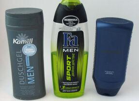 Тесты мужских гелей для душа: Avon, Fa и Kamill