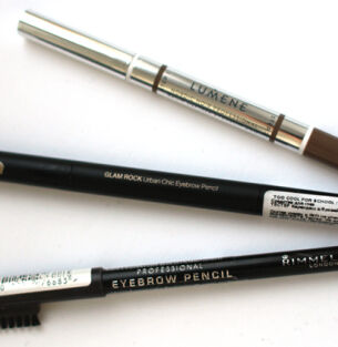 Тесты карандашей для бровей: Rimmel, Too Cool For School, Lumene