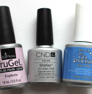 Мои лаки для ногтей: EzFlow, Shellac, ibd