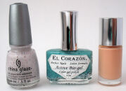 Обзор моих лаков: China Glaze, El Corazon, Clinique