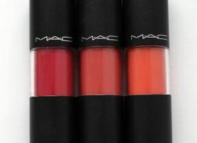 Блеск-стейн MAC Versicolour Stain – три оттенка, свотчи и макияж